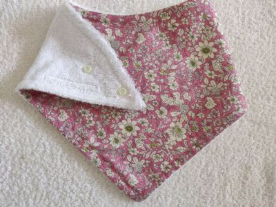 Pink Cream Flower Bib